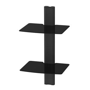 Kanto AVT2 Wall Mounted AV - 2 Shelves - Black