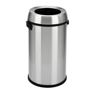 step n' sort open top commercial trash can, 65 litre