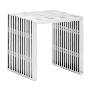 Zuo Modern Novel Bench - 15.3-in x 16.5-in - Stainless Steel