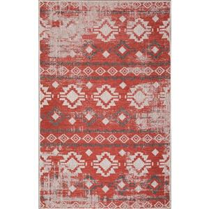 Erbanica Indoor-Outdoor Polypropylene Rug - Rust/Beige - 7' x 9'