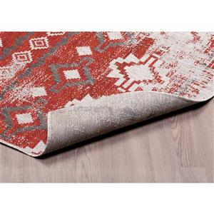 Erbanica Indoor-Outdoor Polypropylene Rug - Rust/Beige - 8' x 10'