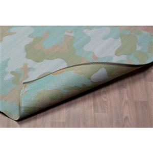Erbanica Outdoor Plastic Camouflage Rug - Green - 4' x 6'