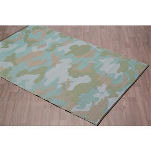 Erbanica Outdoor Plastic Camouflage Rug - Green - 5' x 8'