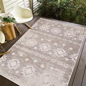 Erbanica Indoor-Outdoor Polypropylene Rug - Ivory Sand - 8' x 10'