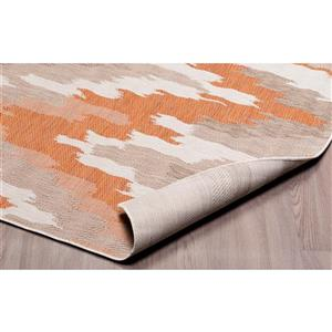 Erbanica Indoor-Outdoor Polypropylene Rug - Brick/Sand - 3' x 5'