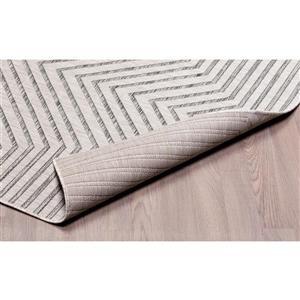 Erbanica Indoor-Outdoor Polypropylene Rug - Grey/Beige - 3' x 5'