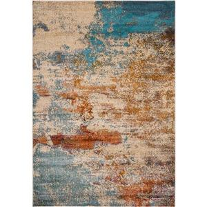 Erbanica Modern Abstract Multi-Colored Soft Pile Rug - 8' x 10'