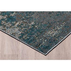 Erbanica Modern Abstract Grey Gold Soft Pile Rug - 8' x 10'