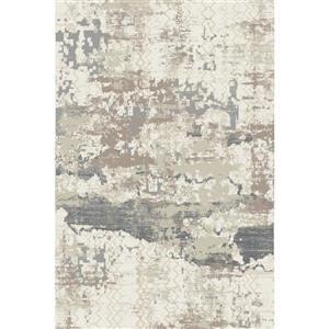 Erbanica Textured Polypropylene Grey Rug - 8 x 10'