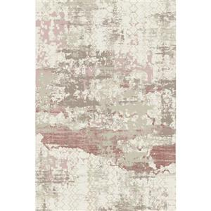 Erbanica Textured Polypropylene Pink Rug - 5 x 8'