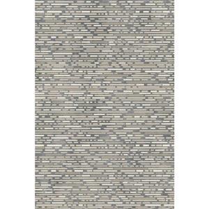 Erbanica Textured Polypropylene Dark Grey/Grey Rug - 5 x 8'