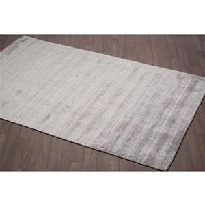 Erbanica Handmade Solid Wool Viscose Rug - Taupe - 5' x 8'