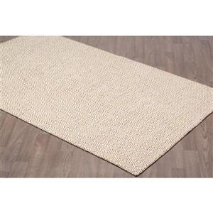 Erbanica Diamond Flat Weave Reversible Wool Rug - Ivory - 8' x 10'