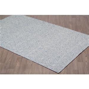 Erbanica Diamond Flat Weave Reversible Wool Rug - Ivory/Navy - 8' x 10'