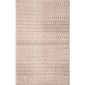 Erbanica Cotton Chenille Moroccon Beige Brown Rug - 8 ' x10'