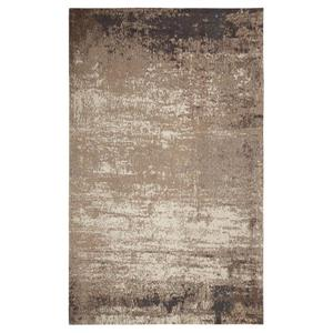 Erbanica Handmade Chenille Cotton Grey Beige Abstract Rug - 8' x 10'