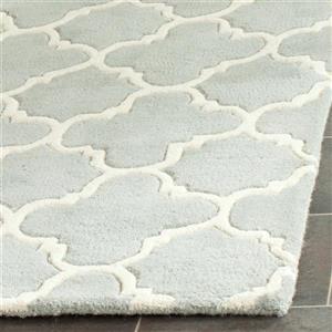 Chatham Square Rug - 8.8' x 8.8' - Wool - Grey/Ivory