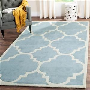Chatham Square Rug - 8.8' x 8.8'- Wool - Blue/Ivory
