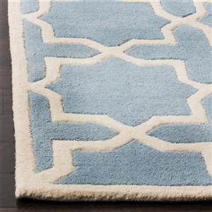 Chatham Square Rug - 8.8' x 8.8'- Wool - Blue/Ivory