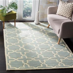 Chatham Square Rug - 8.8' x 8.8' - Wool - Grey/Ivory