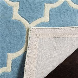 Chatham Square Rug - 8.8' x 8.8' - Wool - Blue/Ivory