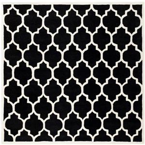 Chatham Square Rug - 8.8' x 8.8' - Wool - Black/Ivory