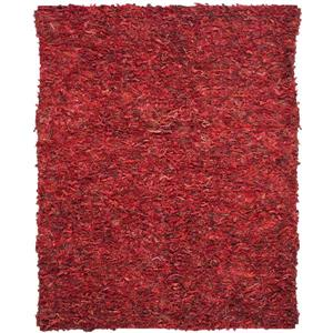 Safavieh Leather Shag Rug - 8' x 10' - Leather - Red