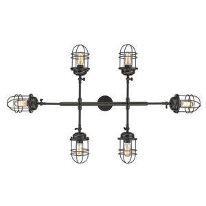Golden Lighting Seaport Linear Pendant Light - Black