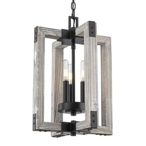 Golden Lighting Lowell 3-Light Pendant Light - Black