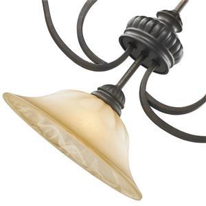 Golden Lighting Mayfair 3-Light Linear Pendant Light - Leather Crackle