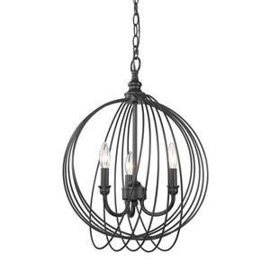 Golden Lighting Quinn 3-Light Pendant Light - Black