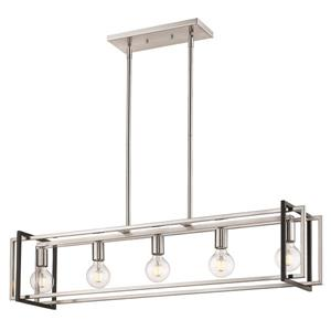 Golden Lighting Tribeca Linear Pendant Light - Pewter/Black