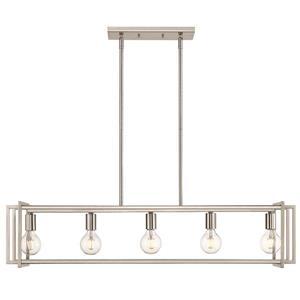 Golden Lighting Tribeca Linear Pendant Light - Pewter