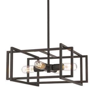 Golden Lighting Tribeca 4-Light Pendant Light - Black
