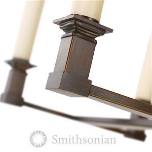 Golden Lighting Smithsonian Bradley Linear Pendant Light - Cordoban Bronze