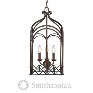 Golden Lighting SmithsonianGateway 3-Light Pendant Light - Fired Bronze