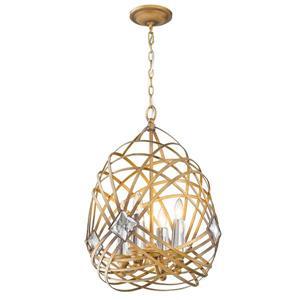 Golden Lighting Signet 4-Light Pendant Light - Royal Gold