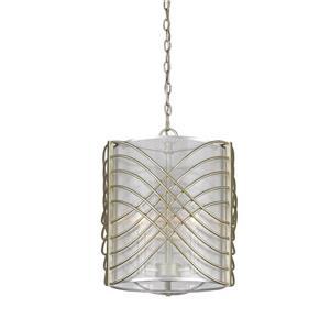 Golden Lighting Zara 3-Light Pendant Light - White Gold