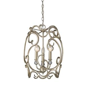 Golden Lighting Colette 3-Light Pendant Light - White Gold