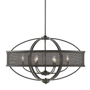 Golden Lighting Colson Linear Pendant Light with Shade - Bronze