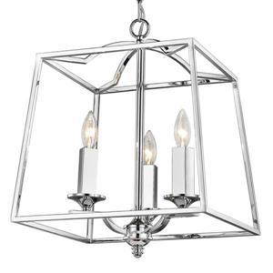 Golden Lighting Athena 3-Light Pendant Light - Chrome