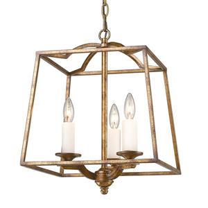 Golden Lighting Athena 3-Light Pendant Light - Grecian Gold