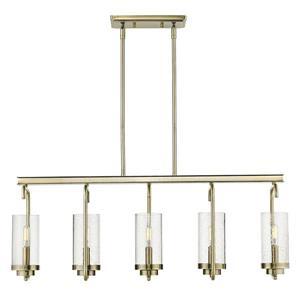 Golden Lighting Holden Linear Pendant Light - Aged Brass