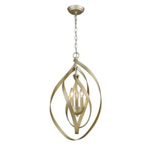 Golden Lighting Nicolette 3-Light Pendant Light - White Gold