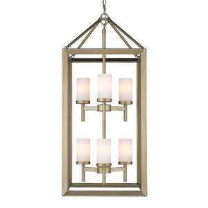 Golden Lighting Smyth 6-Light Pendant Light - White Gold