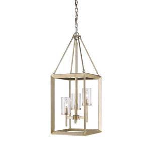 Golden Lighting Smyth 3-Light Pendant Light - White Gold