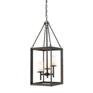Golden Lighting Smyth 3-Light Pendant Light - Gunmetal Bronze