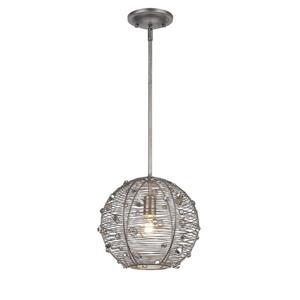 Golden Lighting Joia 1-Light Pendant Light - Peruvian Silver