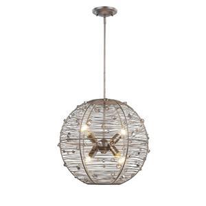 Golden Lighting Joia 4-Light Pendant Light - Peruvian Silver