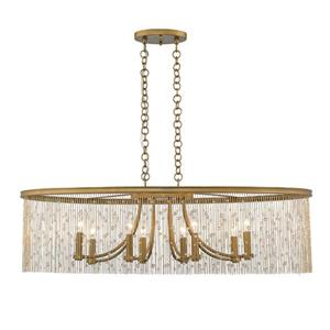 Golden Lighting Marilyn Linear Pendant Light- Peruvian Gold